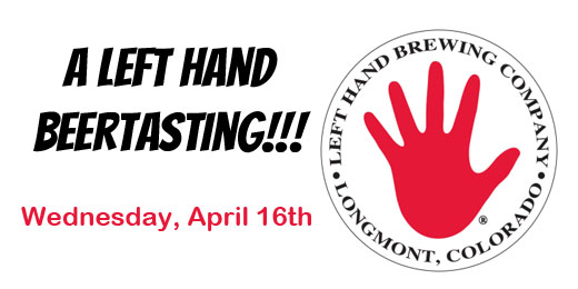 "April Beertasting | A ""Left Hand Beertasting"""