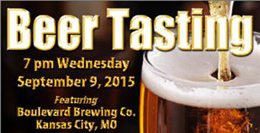 Boulevard Brewing Co. Beer Tasting September 9th