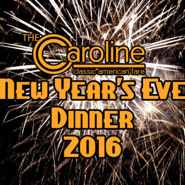 New Year's Eve Dinner 2016 | Dec 30th & 31st