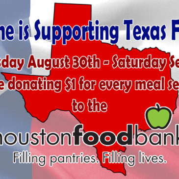 From 8/30/17 – 9/2/17 The Caroline is Donating $1 for every meal served to help support Texas Relief efforts