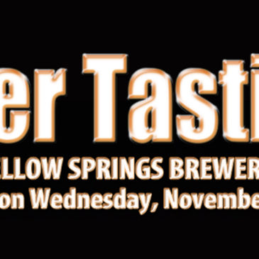 Yellow Springs  Brewery Beer Tasting | Nov. 15, 2017