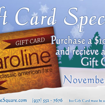 Thanksgiving Gift Card Special | November 20th – November 25th