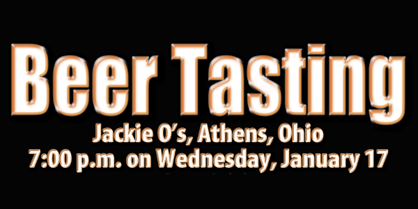 Jackie O's Beer Tasting | 7 pm January 17th, 2018