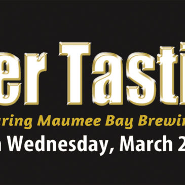 Maumee Bay Brewing Co. Beer Tasting | Wednesday March 28