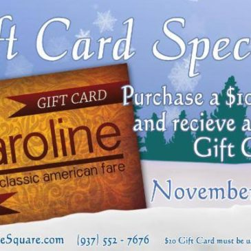 2018 Thanksgiving Gift Card Special