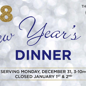 New Year's Eve Dinner Menu | Monday, December 31st